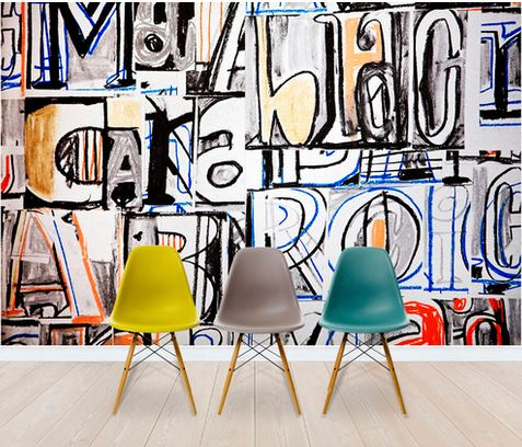 Add a Fun and Funky Wall Mural to your Office Interior