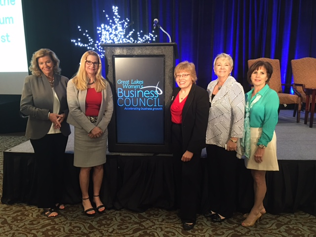 Great Lakes Women's Business Conference Panel Discussion participants.