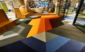 Graffiti Art with Carpet Tile – By Interface